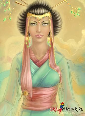 "Как рисовалась ""Lotus"" (Рисуем женщину, азиатку)"