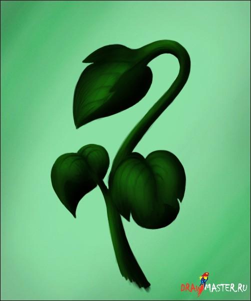 Учимся рисовать Растение