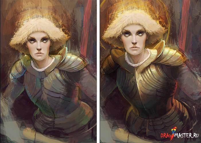 Как рисовалась Жанна Дарк (Jeanne d'Arc)