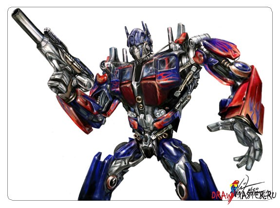 Как рисовался трансформер Оптимус Прайм (Optimus Prime) - Видео урок