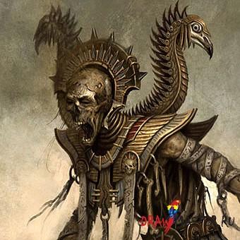 Как рисовался Лич Жрец (Нежить) из игры Warhammer Online - Видео уроки
