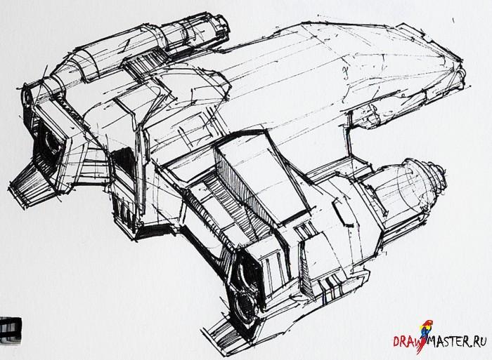 Как нарисовать Космическую Битву