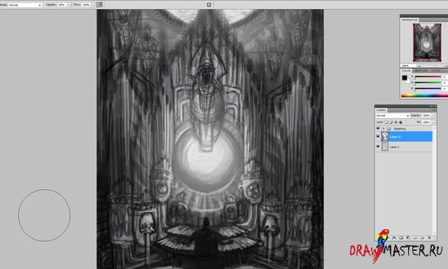Рисуем Мрачную картину в стиле Стимпанк