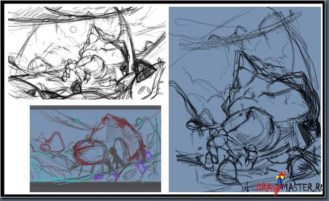Как нарисовать иллюстрацию «К водопаду!»