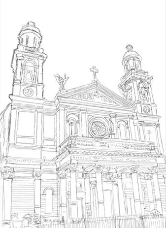 Как нарисовать иллюстрацию «Полночь в храме Бога»
