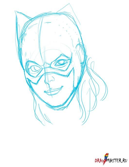 Как нарисовать Девушку-Летучую мышь (Bat girl)