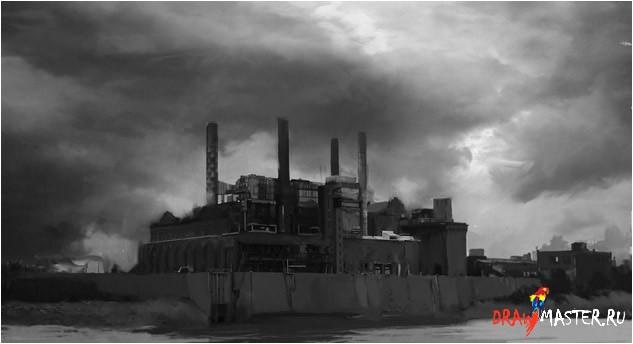 Как нарисовать Электростанцию