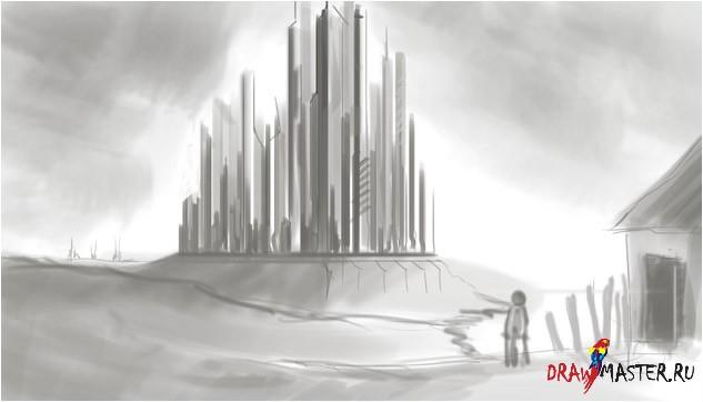 Точки обзора - Учимся рисовать футуристический город (Matte Painting)
