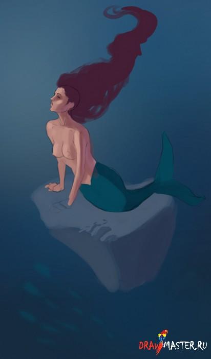 Как рисовалась иллюстрация «Выброшенная из моря»
