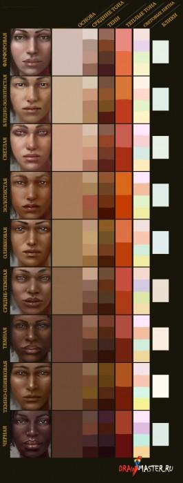 Рисуем кожу (Часть 2) - Выбор тона кожи