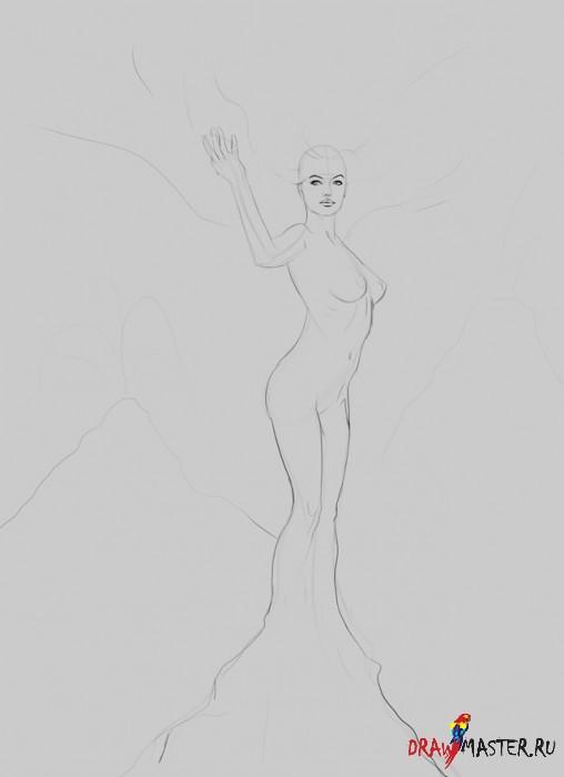 Как нарисовать богиню огня Фотию (Fotia)