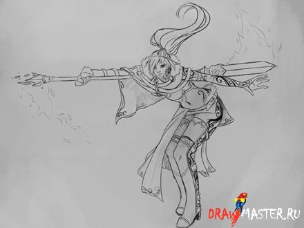 Как нарисовать волшебницу