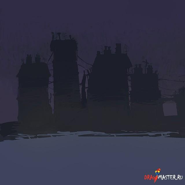 Как нарисовать Пристань