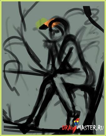 Как рисовалась апельсиновая Фея