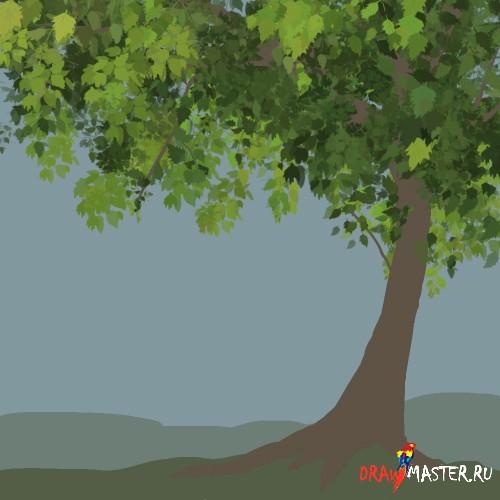 Рисуем красивые деревья за несколько минут