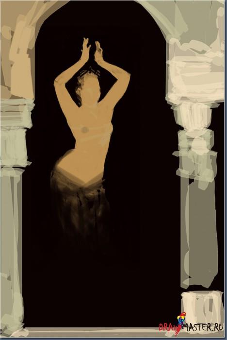 Как нарисовать картину «Танцующий Джин»