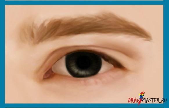 Как нарисовать Глаза мужчины