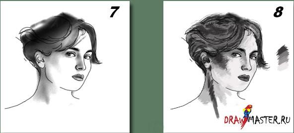 Как нарисовать Портрет в стиле Гранж