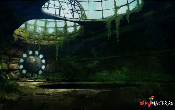 Как нарисовать картину «Руины Дориата»