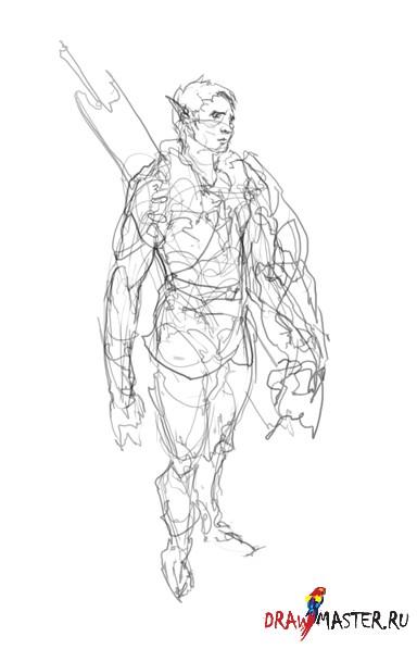 Как нарисовать Человека-Мутанта