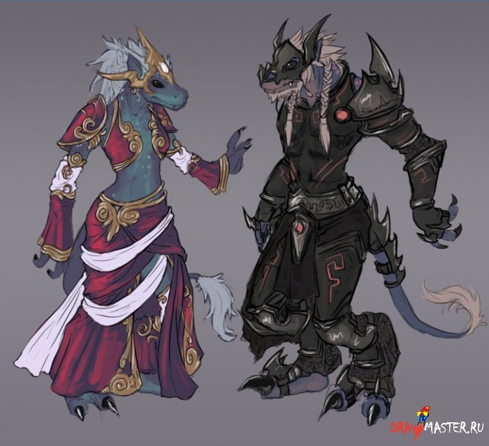 Дизайн персонажей - cоздание Волкоящера.