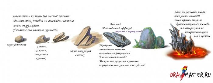 Как нарисовать Камень/Скалу