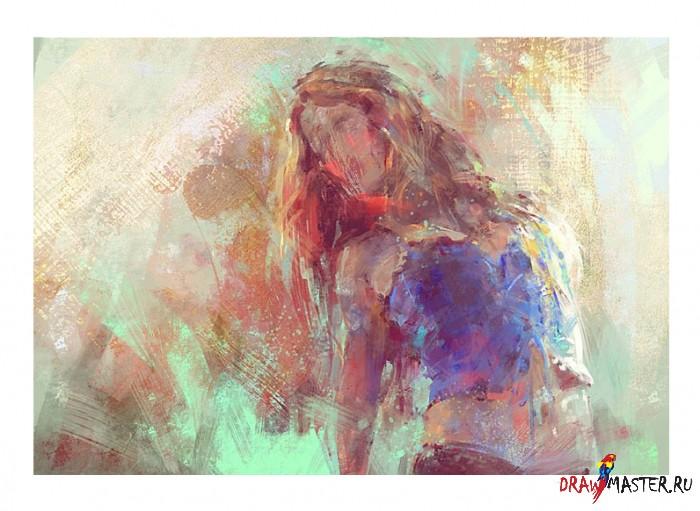 Урок по графическому Импрессионизму (автопортрет)