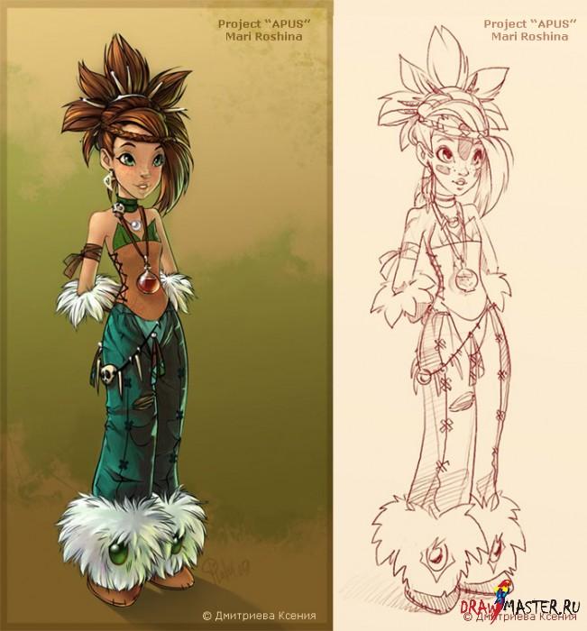 Создание и разработка образа персонажа