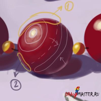 Рисуем бусины - Очень подробный урок для Начинающих