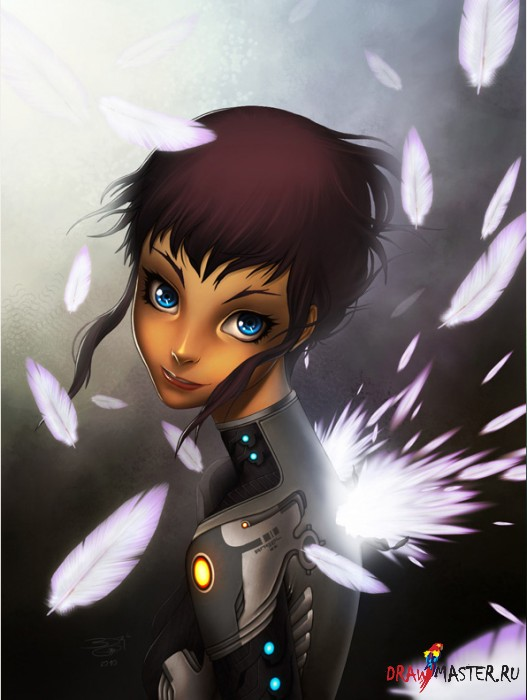 Рисуем техно-ангела