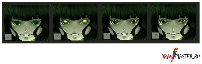 Рисуем глаза в стиле аниме