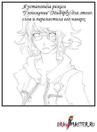 Раскрашиваем рисунок в стиле аниме в SAI