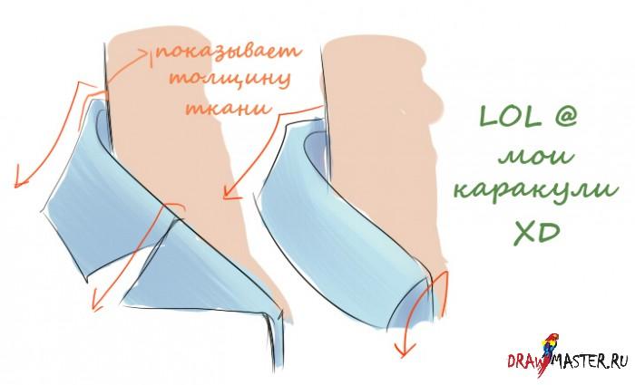 Как рисовать Одежду и Складки – Часть 2