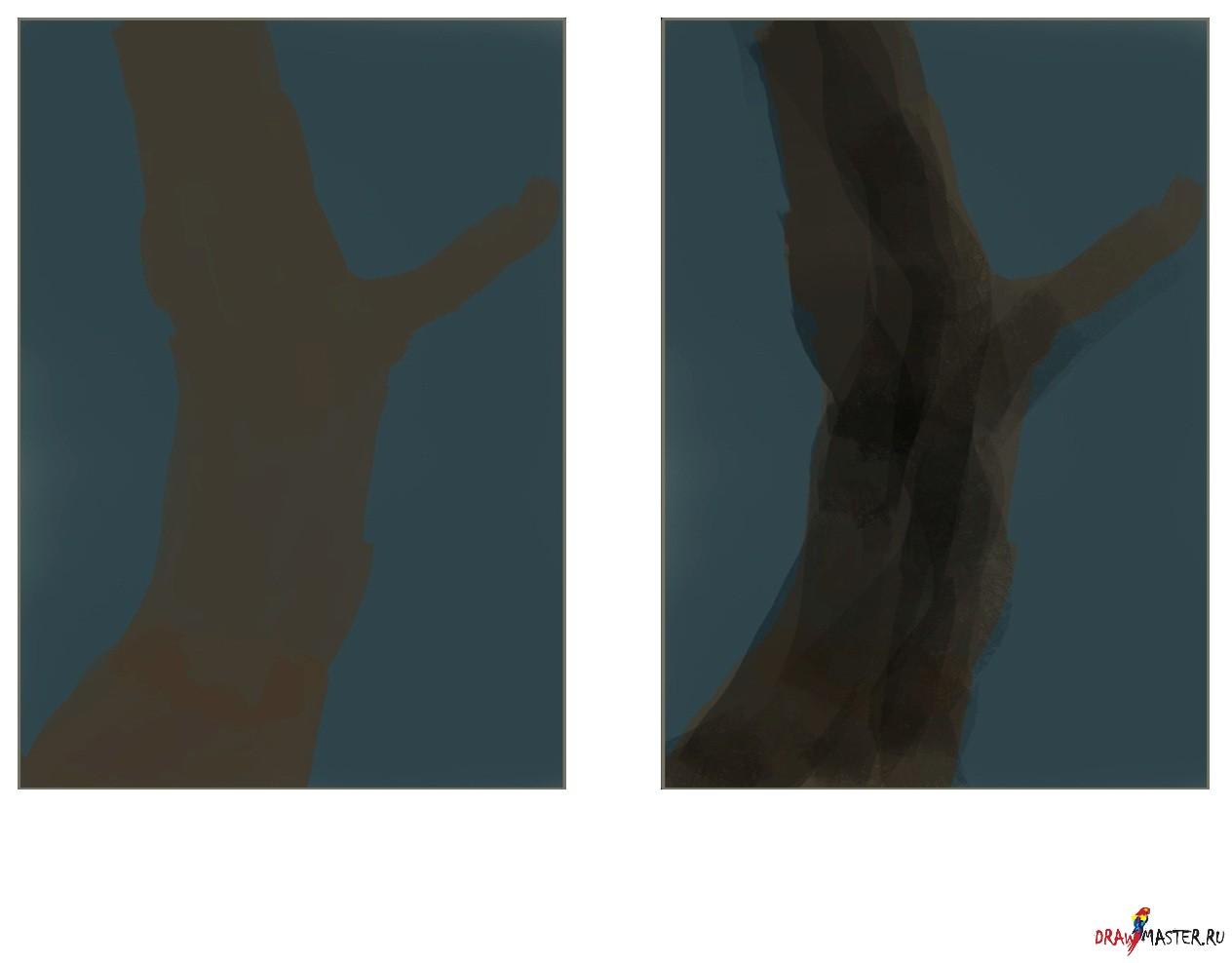 Як намалювати казкове дерево - уроки малювання