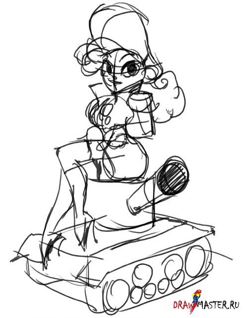 Рисуем персонажа в стиле Пин-ап Милитари