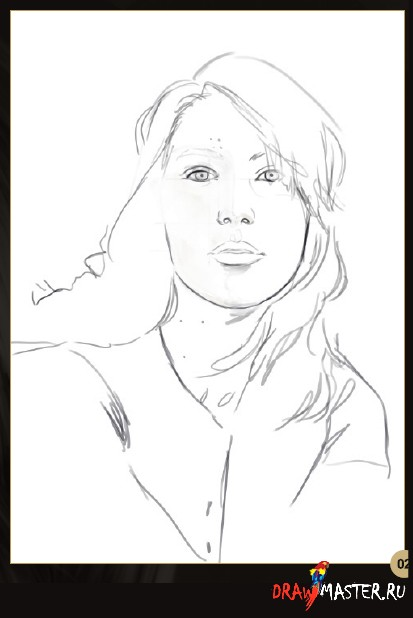 Как нарисовать Автопортрет с фотографии