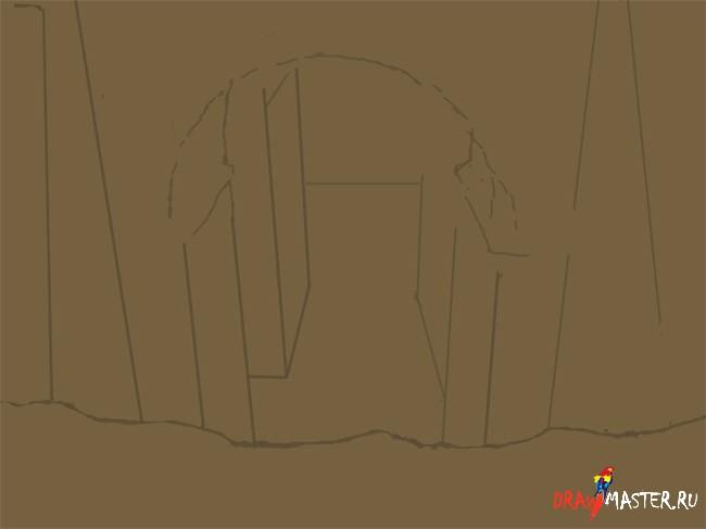 Как нарисовать Развалины в стиле фото-реализм