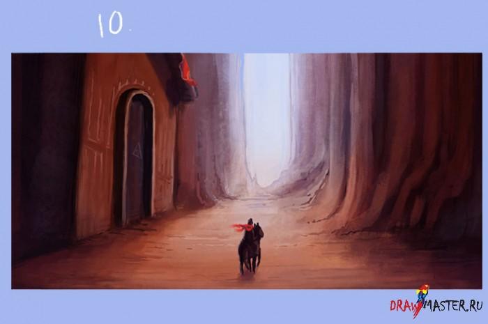 """Как нарисовать картину """"Через горную Долину"""""""