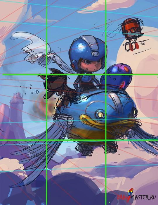 Как нарисовать персонажа - Мегамен