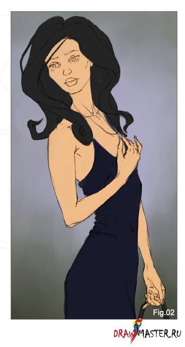 Как нарисовать «Девушку в Черном»