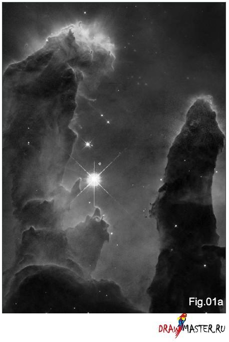 Як малювати Космос (Частина 1) – Зірки і Туманності - уроки малювання