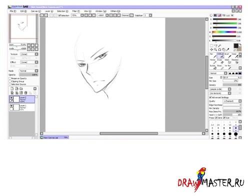 Урок рисования в программе PaintTool SAI