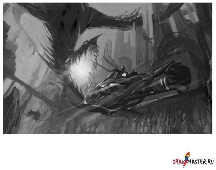 """Концепт-рисунок """"Рыцарь из будущего"""""""