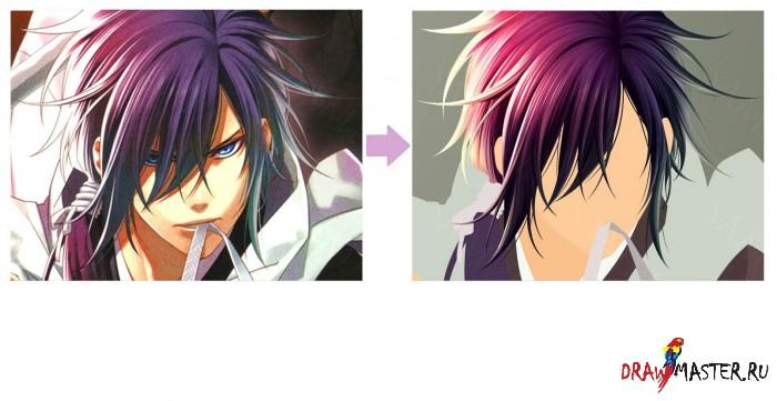 Рисуем волосы в аниме