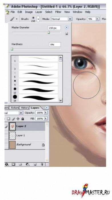 ������ ������� � Photoshop CS