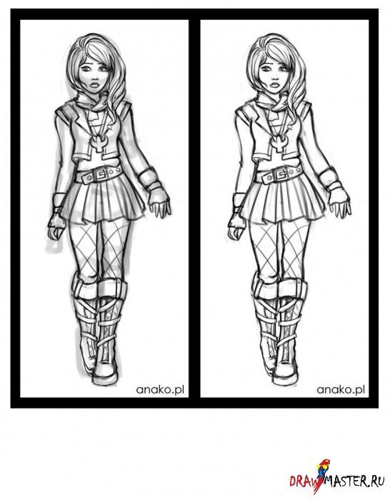 Рисуем персонажа Натали