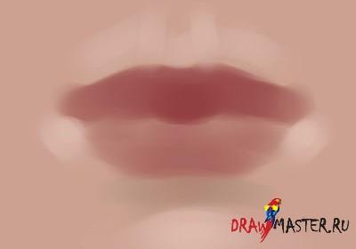 Как нарисовать губы - Пошаговый урок
