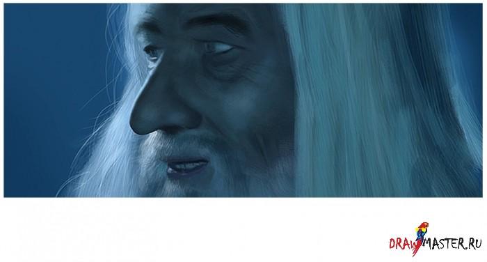 Рисунок Гендальфа на скорую руку