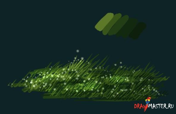 Мини-урок по рисованию Травы