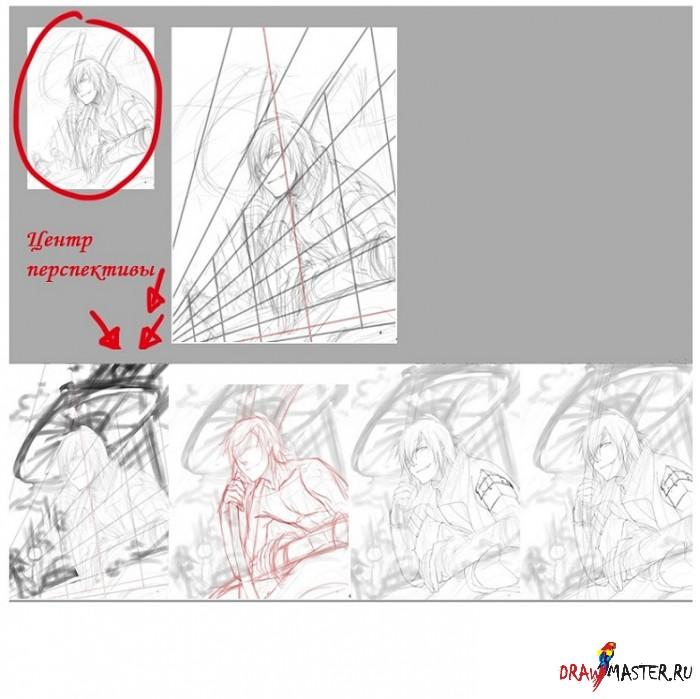 Рисуем аниме персонажей